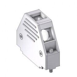 DCM25UN4-DELTRON D-Sub metallized hood 25P SPQ:100