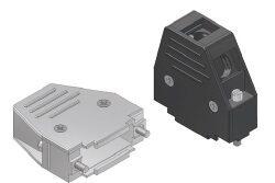 DC09UN4-DELTRON D-sub plastic hood 9P SPQ:100