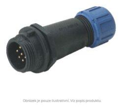DELKSP1311/P7I with cap-DELTRON Cable plug 7P IP68 SPQ:10