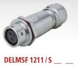 DELMSF1211/S3I with cap-DELTRON Cable socket 3P IP67 SPQ:10