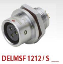 DELMSF1212/S3 with cap-DELTRON Panel-mount socket 3P IP67 SPQ:10