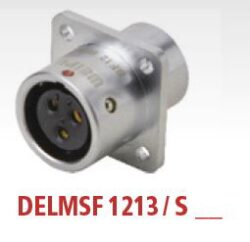 DELMSF1213/S3 with cap-DELTRON Panel-mount socket 3P IP67 SPQ:10