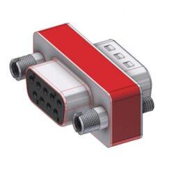 DFA09S/09P/2FP102UN-DELTRON D-Sub Filter-Adapter 9P/Female/Male SPQ:88