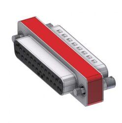 DFA25P/25S/2FP102UN-DELTRON D-Sub Filter-Adapter 25P/Female/Male SPQ:44