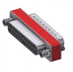 DFA25S/25P/2FP102UN-DELTRON D-Sub Filter-Adapter 25P/Female/Male SPQ:44