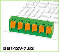 Svorkovnice: DG142V-7.62-05P-14-00AH-Degson: DG142V-7.62-05P-14-00AH Svorkovnice pružinová do DPS RM 7,62mm 05 pólová, 15A/450VDC, H=14,10mm, B=13,20mm