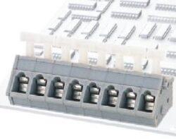 Svorkovnice: DG243-5.0-02P-11-00AH-Degson: Svorkovnice pružinová do DPS DG243-5.0-02P-11-00AH RM 5,00mm 02 pólová, 17A/450VDC, H=18,74mm, B=15,00mm