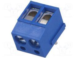 Svorkovnice do DPS: DG300R-5.0-02P-12-00A(H)-Degson: Svorkovnice do DPS DG300R-5.0-02P-12-00A(H) šroubovací RM 5,00 ;  2 pólová, Ver-90° ,24A/250VDC, H=9,00mm,B=12,60mm