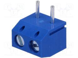 DG301R-5.0-02P-12-00A(H)-Degson: Screw Clamp Termianl Block  RM 5,00mm 2 Poles 90°, 15A/300VDC, H=7,60mm, B=10,00