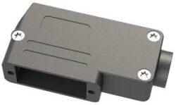 Krytka pro D-SUB: DSPK9-SL-BULK/100-OSSI: Plastová krytka pro D-SUB: DSPK9-SL-BULK/100 úhlová pro 9pin D-sub na plastový kabel: 3-11mm UNC4-40 černý