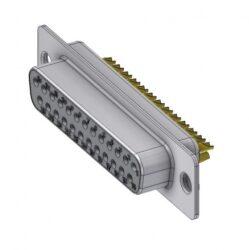 Deltron: DT25SZ/2-Deltron: DT25SZ/2 - Socket D-Sub 25 Socket Soldering channel, Deltron Connectors