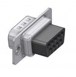 DTS09PX-DELTRON D-Sub crimp-plug 9P/Male SPQ:100
