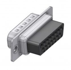 DTS15PX-DELTRON D-Sub crimp-plug 15P/Male SPQ:100