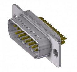 DTS15PZ/2-DELTRON D-Sub plug 15P/Male SPQ:66