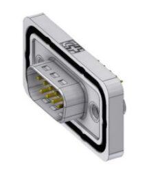 DTSWM09PY/2M85UN-DELTRON D-Sub Connector Male 9P IP68 SPQ:42