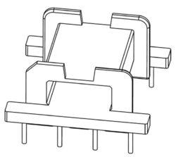 Patron EFD2001 Bobbin (4+4)-Kostřička EFD20 (4+4pin)-1S  EFD2001 Bobbin (4+4) = FERROXCUBE CSH-EFD20-1S-8P, B66418W1008D001