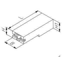 Izolační krytka: EH 650.100 PA 66 V0 Nature-STOCKO: Izolační krytka pro faston 4,8mm úhlová natural PA66
