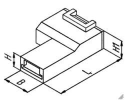 Izolační krytka: EH 678.100-B PA66 V0 Natur-STOCKO: Izolační krytka pro faston 6,3mm úhlová natural PA66