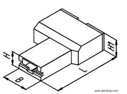 Izolační krytka: EH683.002-STOCKO: Izolační krytka pro faston 4,8mm úhlová natural PA6,6