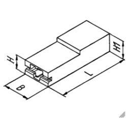 Izolační krytka: EH 777 PA66 V0 natur-STOCKO: Izolační krytka pro faston 6,3mm úhlová natural PA66