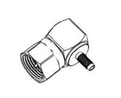 Konektor: F-1242-TNN-Schmid-M: Konektor F-1242-TNN Pravoúhlý, Krimlovací na kabel RG179 B/U