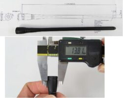 Gumová anténa: G-RA0K13212006-ATD-Schmid-M: Gumová anténa: G-RA0K13212006-ATD; ; 869-916MHz, (RP)SMA, Compact ; L=219,3mm; Connector RP SMA Plug; Impedance: 50 Ohm; Omni Directional; Vertical