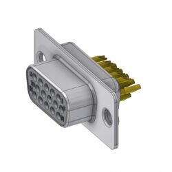 HD-D15SZ/2 - DELTRON D-Sub Socket 15 High Density QC2 SPQ:88