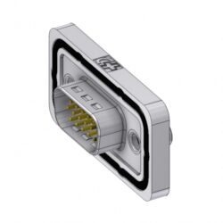 HD-DWM15PY/2M85UN-DELTRON D-Sub Connector High Density Male 15P SPQ:42