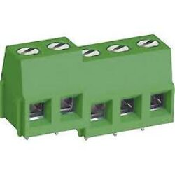 MB310-508M04 - DECA: Screw Clamp Termianl Block  RM 5,08mm 4 Poles, 16A/300VDC, H=14,00mm, B=10,20mm