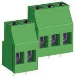 Svorkovnice: MB422-500MA02-DECA: Svorkovnice do DPS MB422-500MA02 šroubovací  RM 5,00 ;  2 pólová, 25A/300VDC, H=18,00mm, B=11,20mm = ARK 700/2