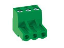 MC100-50803-DECA: Svorkovnice na kabel nasouvací, RM 5,08mm, 3 pólové, zelená