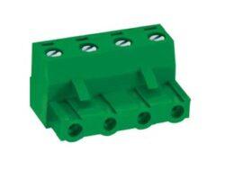 MC100-76205-DECA: Svorkovnice na kabel nasouvací, rovně, RM 7,62mm, 5 pólové, zelená
