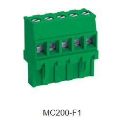 Svorkovnice na kabel: MC200-F105-DECA: Svorkovnice na kabel: MC200-F105 nasouvací, RM 5,08mm, 5 pólové, zelená ~ Phoenix Contact MVSTBR2,5/2-ST-5,08 ~ WE 691352510005