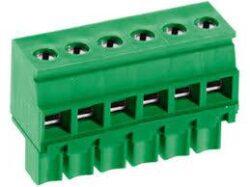 MC520-350 7pin-DECA: Svorkovnice na kabel nasouvací, rovně, RM 3,50mm, 7 pólové, zelená