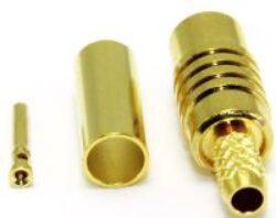 Vysokofrekvenční konektor: MCX-1204-TGG-Schmid-M: Vysokofrekvenční konektor MCX female/jack krimpovací na kabel RG 178, 196; Huber+Suhner 21 MCX-50-1-11/111NH 23005297