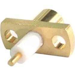 Vysokofrekvenční konektor: MCX-3201-TGG-Schmid-M: Vysokofrekvenční konektor MCX female/jack panelový ~ Johnson Cinch 133-3701-611 ~ 133-3701-621
