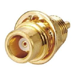 Vysokofrekvenční konektor: MCX-4201-TGG-Schmid-M: Vysokofrekvenční konektor MCX female/jack bulkhead