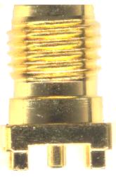 Vysokofrekvenční konektor: MCX-5201-TGG-Schmid-M: Vysokofrekvenční konektor MCX female/jack do DPS