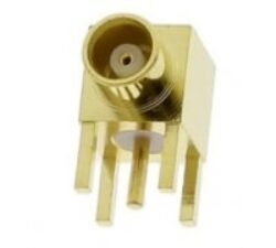Vysokofrekvenční konektor: MCX-5203a-TGG-Schmid-M: Vysokofrekvenční konektor MCX female/jack do DPS 90°