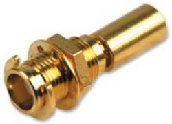 Vysokofrekvenční konektor: MCX-7403-TGG-Schmid-M: Vysokofrekvenční konektor MCX female/jack na Semi-rigid kabel SFT-50-2-1 B1 = 2.2 mm