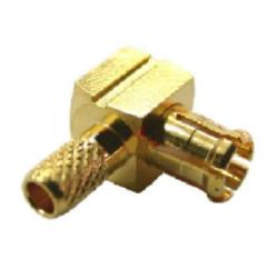 Vysokofrekvenční konektor: MCX75-1101-TGG-Schmid-M: Vysokofrekvenční konektor MCX 75 Ohm male/plug krimpovací na kabel RG 179