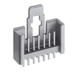 MKS 1855-6-0-505 - STOCKO Pin connector for vertical connections with snap-in lockung device solder pins RM2,50; 02Pin; matching Part MKF 5132 or MKF 13263