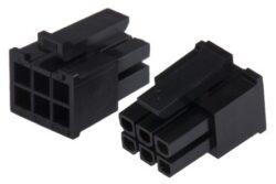 MLX43025-0600-Pouzdro konektoru řada MICRO-FIT 3.0 rozteč 3mm 6cestné 2řadové přímé samice kabelová montáž Molex 43025