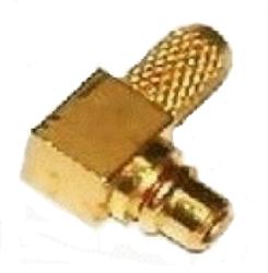 Vysokofrekvenční konektor: MMCX-1109-TGG-Schmid-M: Vysokofrekvenční konektor MMCX male/plug krimpovací na kabel RG 58, 141A/U, 58A/U