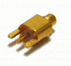 Vysokofrekvenční konektor: MMCX-5101-TGG-Schmid-M: Vysokofrekvenční konektor MMCX male/plug do DPS ~ Huber Suhner 81_MMCX-50-0-1/111OE 22646298 ~ Samtec MMCX-P-P-H-ST-SM1 ~ Molex 73415-2121 ~ AMP TE 1408496-1