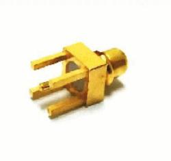 Vysokofrekvenční konektor: MMCX-5112-TGG-Schmid-M: Vysokofrekvenční konektor MMCX male/plug do DPS L = 5.3 mm, S = 4.5 mm ~ Huber Suhner 81_MMCX-50-0-1/111OE 22646298 ~ Samtec MMCX-P-P-H-ST-SM1 ~ Molex 73415-2121 ~ AMP TE 1408496-1
