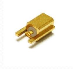Vysokofrekvenční konektor: MMCX-5203-TGG-Schmid-M: Vysokofrekvenční konektor MMCX female/jack do DPS L = 8.26 mm ~ Huber Suhner 82_MMCX-S50-0-13/111OG 22660141 ~ Amhenol 908-22100 ~ Radiall R110422100 ~ AMP TE 1408152-1