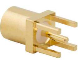 Vysokofrekvenční konektor: MMCX-5208-TGG-Schmid-M: Vysokofrekvenční konektor MMCX female/jack do DPS L = 7.42 mm ~ Hubes Suhner 82_MMCX-50-0-1/111NE 22645958 ~ TE 1-1634009-0 ~ Radiall R110A426000 ~ Johnson 135-3701-201 ~ Samtec MMCX-J-P-H-S-T-SM1