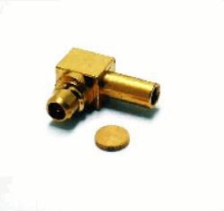 Vysokofrekvenční konektor: MMCX-7104-TGG-Schmid-M: Vysokofrekvenční konektor MMCX male/plug na Semi-rigid kabel RG 0,47 (0,047); Huber+Suhner 16 MMCX-50-1-4/111OE 22649182 ~ Molex 73415-2161