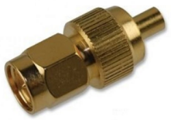 Coaxial Adapter: MMCXj-SMAp-705-TGG-Schmid-M: RF Adapter MMCX Jack - SMA Plug